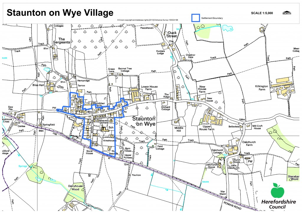 Neighbourhood plan Staunton_Village_and_surrounding_area_with_settlement_boundary (3)