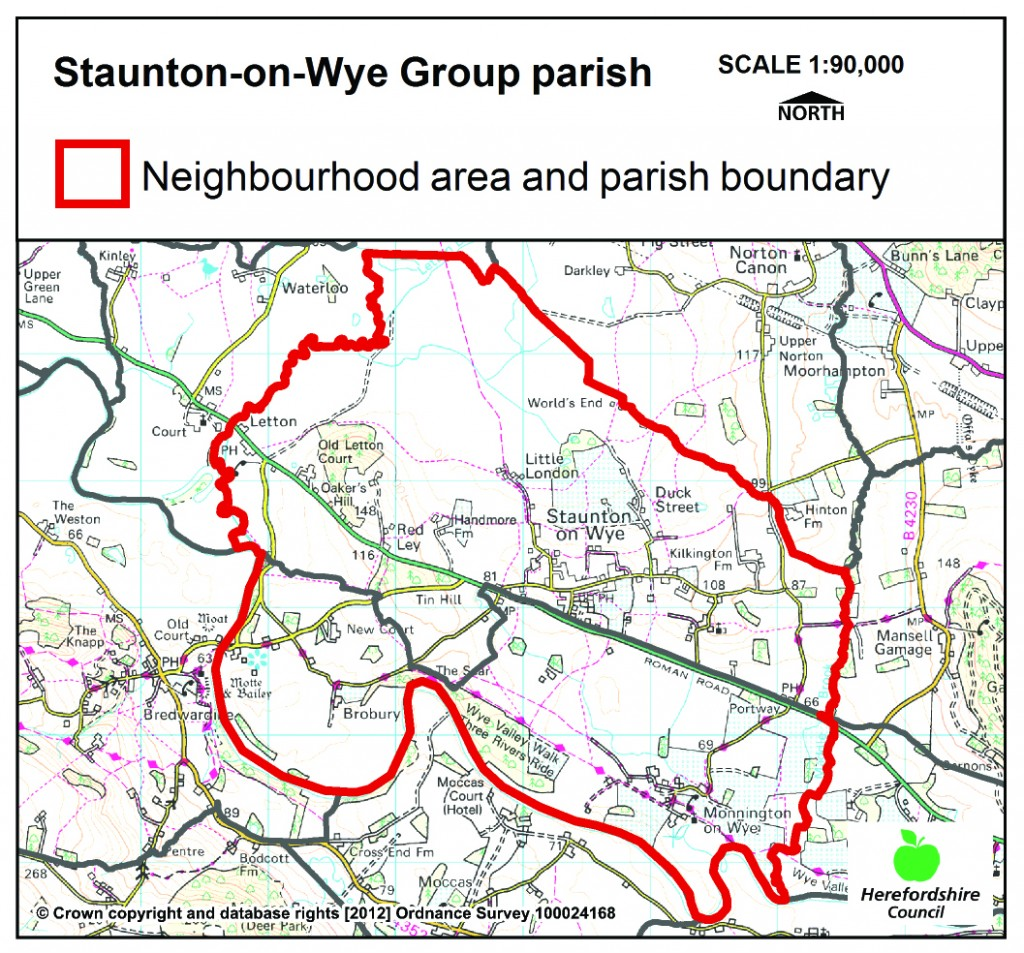 Neighbourhood plan map Staunton_on_Wye_Group_CP (2)